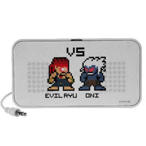 8bit Evil Ryu VS Oni iPod Speakers