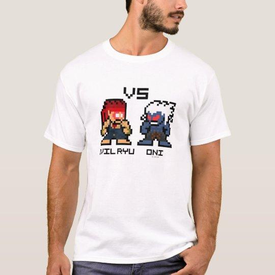8bit Evil Ryu VS Oni T-Shirt