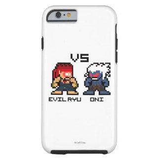 8bit Evil Ryu VS Oni Tough iPhone 6 Case