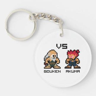 8bit Gouken VS Akuma Double-Sided Round Acrylic Keychain