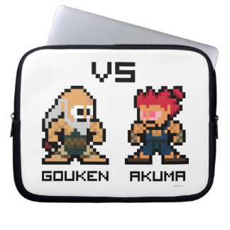 8bit Gouken VS Akuma Laptop Sleeve