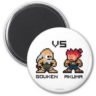 8bit Gouken VS Akuma Magnet