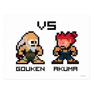 8bit Gouken VS Akuma Postcard