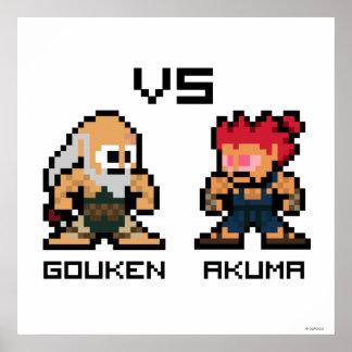 8bit Gouken VS Akuma Poster