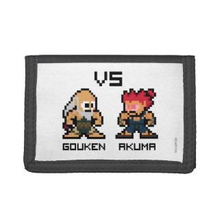 8bit Gouken VS Akuma Tri-fold Wallets