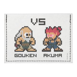 8bit Gouken VS Akuma Tyvek® Card Case Wallet