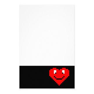 8bit Heart Face Stationery