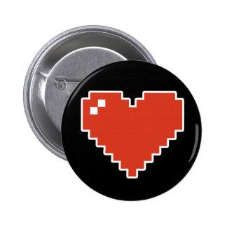 8bit Heart Full Button