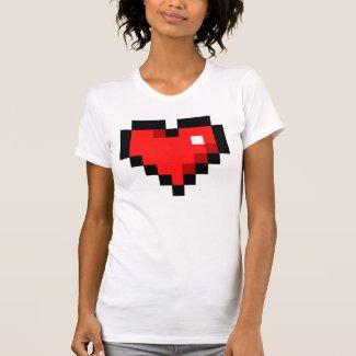 8bit Heart T Shirt