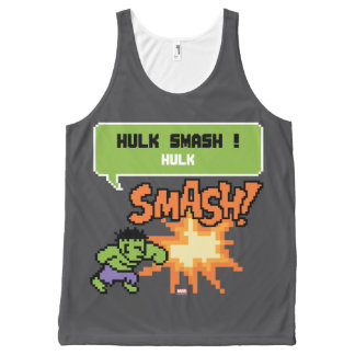8Bit Hulk Attack - Hulk Smash! All-Over-Print Tank Top