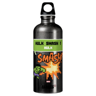 8Bit Hulk Attack - Hulk Smash! Aluminum Water Bottle