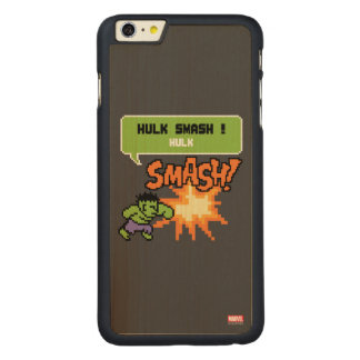 8Bit Hulk Attack - Hulk Smash! Carved® Maple iPhone 6 Plus Slim Case