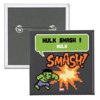 8Bit Hulk Attack - Hulk Smash! Pinback Button