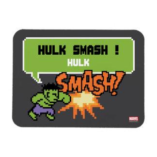 8Bit Hulk Attack - Hulk Smash! Rectangular Photo Magnet