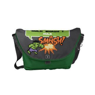 8Bit Hulk Attack - Hulk Smash! Small Messenger Bag