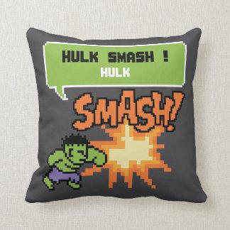 8Bit Hulk Attack - Hulk Smash! Throw Pillow