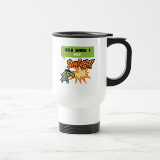 8Bit Hulk Attack - Hulk Smash! Travel Mug