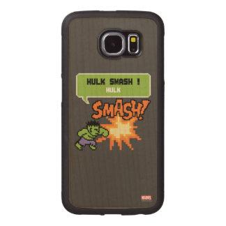8Bit Hulk Attack - Hulk Smash! Wood Phone Case