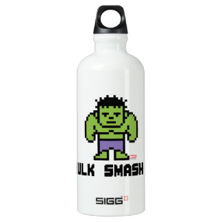8Bit Hulk - Hulk Smash! Aluminum Water Bottle
