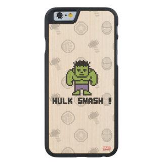 8Bit Hulk - Hulk Smash! Carved Maple iPhone 6 Case
