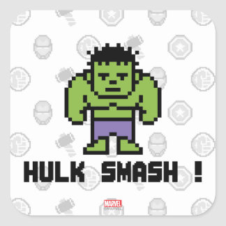 8Bit Hulk - Hulk Smash! Square Sticker