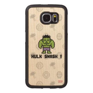 8Bit Hulk - Hulk Smash! Wood Phone Case