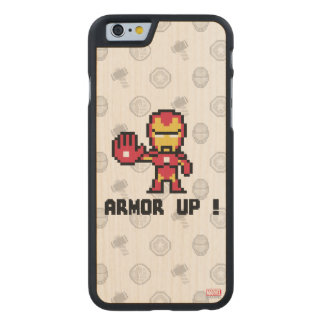 8Bit Iron Man - Armor Up! Carved® Maple iPhone 6 Case
