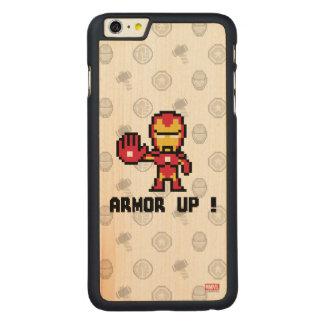 8Bit Iron Man - Armor Up! Carved® Maple iPhone 6 Plus Slim Case
