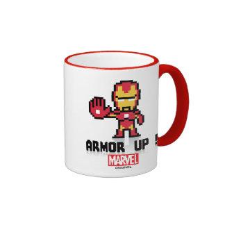 8Bit Iron Man - Armor Up! Ringer Mug
