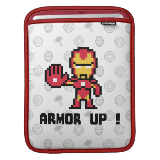 8Bit Iron Man - Armor Up! Sleeve For iPads