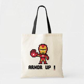 8Bit Iron Man - Armor Up! Tote Bag