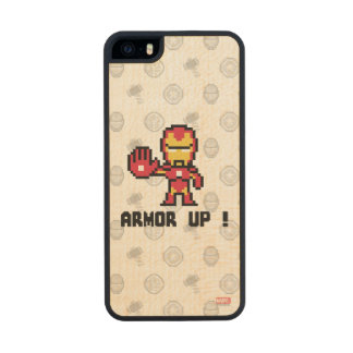 8Bit Iron Man - Armor Up! Wood Phone Case For iPhone SE/5/5s
