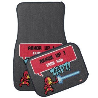 8Bit Iron Man Attack - Armor Up! Car Floor Mat
