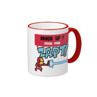 8Bit Iron Man Attack - Armor Up! Ringer Mug
