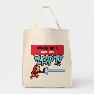 8Bit Iron Man Attack - Armor Up! Tote Bag