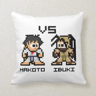 8bit Makoto CONTRA Ibuki Cojín