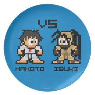 8bit Makoto CONTRA Ibuki Plato Para Fiesta