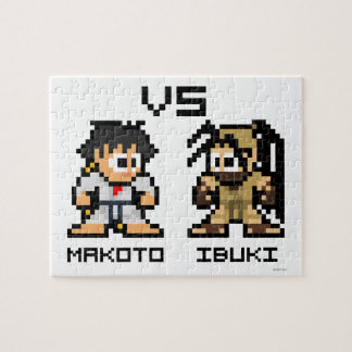 8bit Makoto VS Ibuki Jigsaw Puzzle