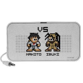 8bit Makoto VS Ibuki Travel Speakers