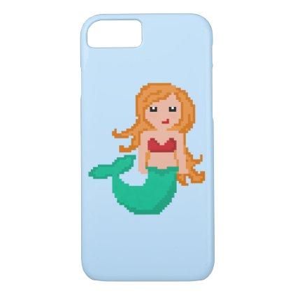 8Bit Pixel Geek Mermaid iPhone 7 Case