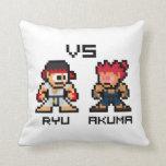 8bit Ryu CONTRA Akuma Cojín