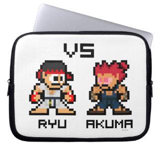 8bit Ryu CONTRA Akuma Fundas Portátiles