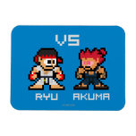 8bit Ryu CONTRA Akuma Imanes De Vinilo
