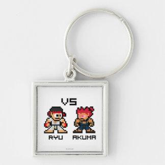 8bit Ryu CONTRA Akuma Llaveros