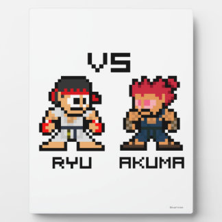 8bit Ryu CONTRA Akuma Placas De Plastico