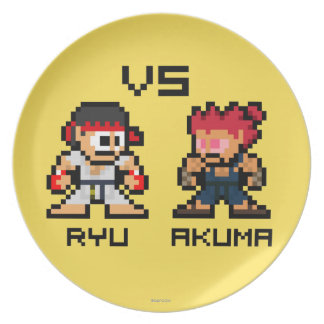 8bit Ryu CONTRA Akuma Plato
