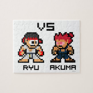 8bit Ryu CONTRA Akuma Puzzle Con Fotos