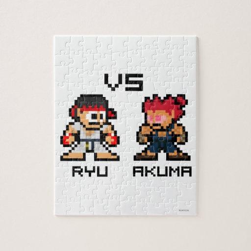 8bit Ryu CONTRA Akuma Puzzles
