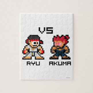 8bit Ryu CONTRA Akuma Rompecabezas