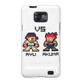 8bit Ryu CONTRA Akuma Samsung Galaxy SII Funda